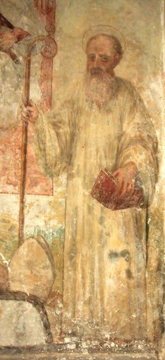 Joachim of Fiore - A 1573 fresco depicting Gioacchino da Fiore, in the Cathedral of Santa Severina, Calabria, Italy