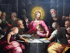 Giorgio vasari, ultima cena, da ss. annunziata a figline, 1567-69, 04