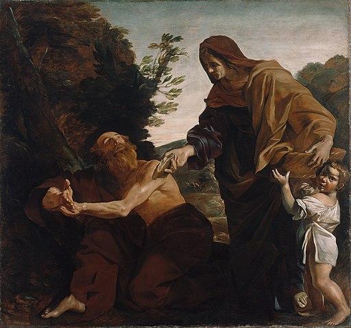 Giovanni Lanfranco (Italian - Elijah Receiving Bread from the Widow of Zarephath - Google Art Project