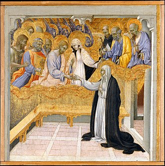 Third order - The Mystic Marriage of Saint Catherine of Siena by Giovanni di Paolo, ca. 1460 (Metropolitan Museum of Art, New York).