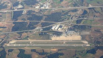 Girona–Costa Brava Airport - Image: Girona Costa Brava Airport View from plane