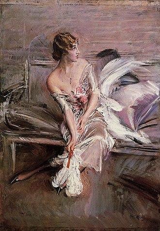 Gladys Spencer-Churchill, Duchess of Marlborough - Gladys Deacon in 1901, by Giovanni Boldini