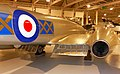Gloster Meteor F.8 (WH301) flap and engine detail, RAF Museum, Hendon. (49449234978).jpg