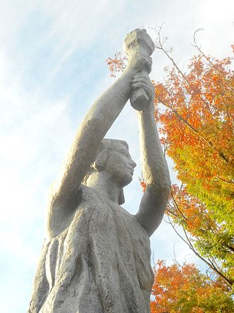 Goddess of Democracy - Victims of Communism Memorial in Washington, D.C., recreation by Thomas Marsh