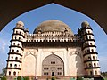 Gol Gumbaz seen through the arched entrance.jpg