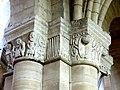 Gournay-en-Bray (76), collégiale St-Hildevert, bas-côté sud, chapiteaux du 5e pilier libre, côté sud-ouest.jpg