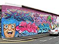 Graffiti, Dinsdale Place (geograph 3202622).jpg