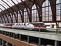 Graffiti op trein in Antwerpen