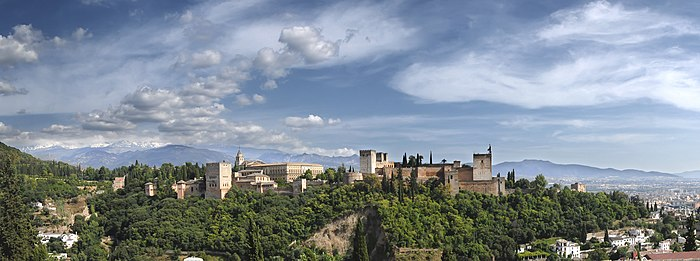 Panorama of Alhambra from Albayzín