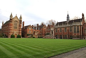 Richard Appleton (academic) - Old Court of Selwyn College, Cambridge with the Hall on the right