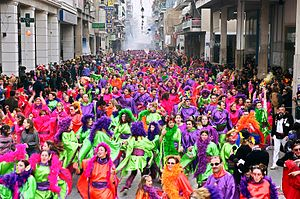 Patras Carnival - The Treasure Hunt groups, a Patras Carnival tradition.