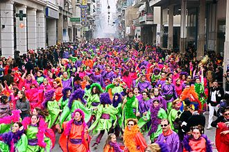 Patras Carnival - The Treasure Hunt groups, a Patras Carnival tradition.