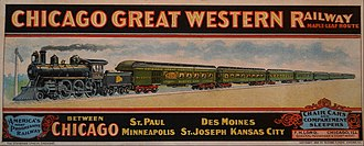 Chicago Great Western Railway - 1906 blotter promoting the railroad's passenger service.