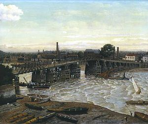 1874 in art - Image: Greaves Old Battersea Bridge 1874