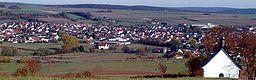 Blick vom Langenberg auf Großenlüder