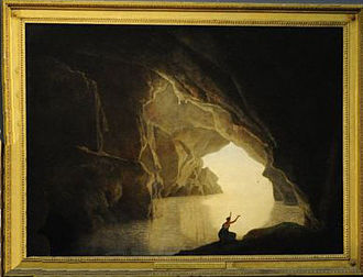 Julia the Younger - Julia was imagined in Grotto in the Gulf of Salerno by Joseph Wright of Derby in 1774.