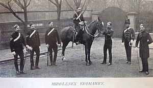 Middlesex Yeomanry - Group of different ranks, Middlesex Yeomanry, 1896