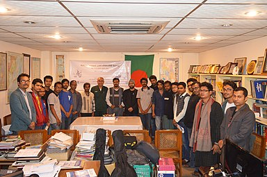 Group photo of Bengali Wikipedians at BNWIKI12 celebration in Chittagong (09).jpg