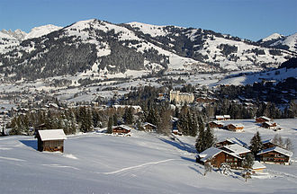Institut Le Rosey - An overlook of Gstaad in the Bernese Oberland, the location of Le Rosey's winter campus
