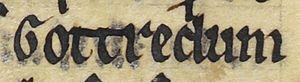 Guðrøðr Óláfsson - Image: Guðrøðr Óláfsson (British Library Royal MS 13 B VIII, folio 46v)