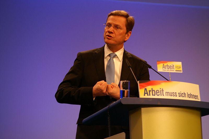 File:Guido Westerwelle auf dem Bundesparteitag 2010 in Köln.jpg