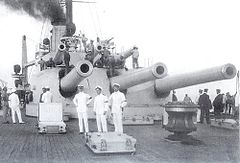 Gun turret on SMS Tegetthoff.JPG