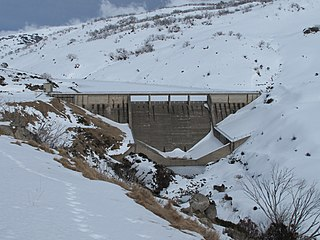Guthega Dam Dam in Snowy Mountains, New South Wales