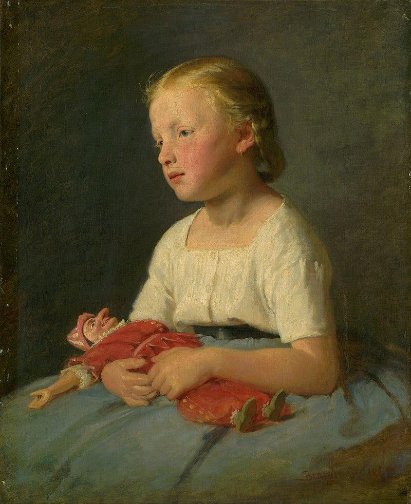 Дьюла Бенчур - Маленькая девочка с куклой - O 85 - Словацкий национальный Gallery.jpg