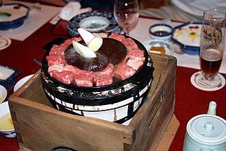 Sukiyaki - Traditional Yokohama-style gyūnabe.