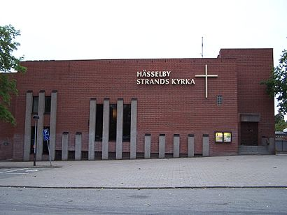 Vägbeskrivningar till Hässelby Strands Kyrka med kollektivtrafik