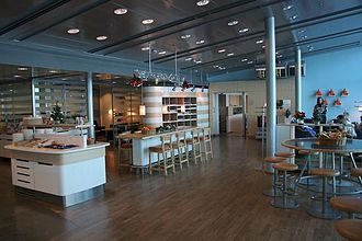 Airport lounge - A standard SAS business lounge at Helsinki-Vantaa Airport, Finland