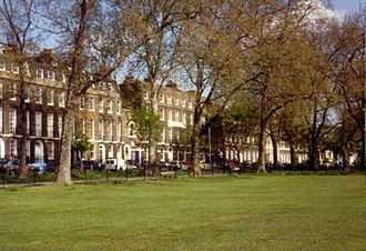 Parks and open spaces in the London Borough of Islington - Highbury Terrace on Highbury Fields, the borough's largest open space.
