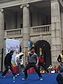 HK 中環 Central 遮打道 Chater Road 香港 前立法會大樓 former Legco Building Sunday morning 菲律賓男生 Filipino dancers Jan-2012 Ip4 03.jpg
