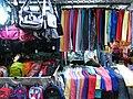HK Mong Kok Fa Yuen Street evening colorful clothing stall Sept-2012.JPG