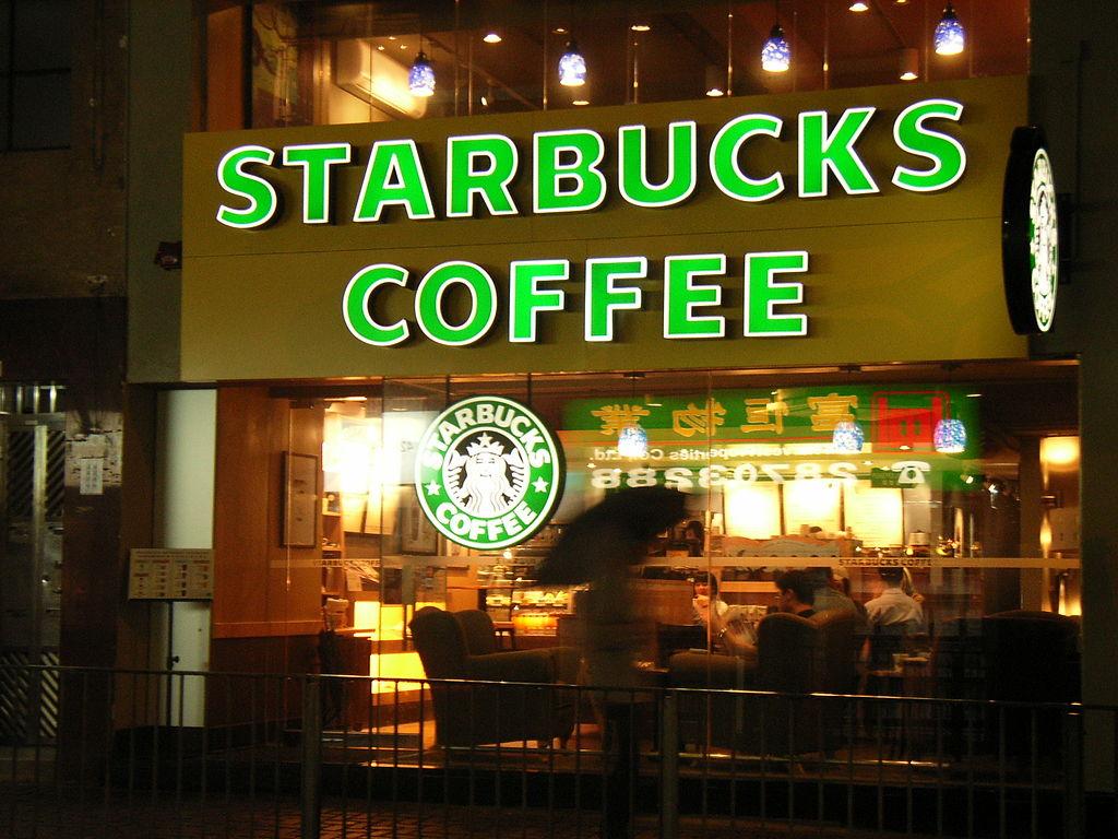 HK Starbucks Coffee in Caine Road