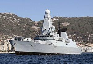 HMS Daring (D32) - Visiting Gibraltar in 2016