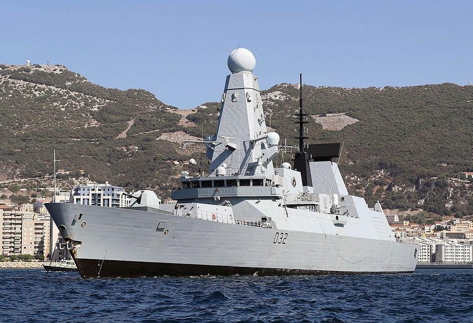 HMS DARING sails in British Gibraltar territorial waters MOD 45160525