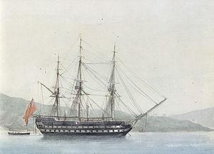 HMS Dragon (1798) - Image: HMS Fame Antoine Roux p 53