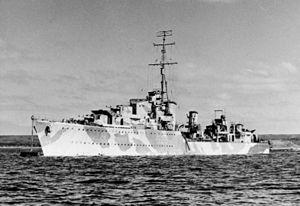 Convoy PQ 8 - HMS Matabele sunk