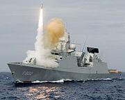 HNLMS De Zeven Provincien fires a SM-2