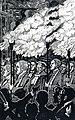 HUA-98594-Afbeelding van de fakkeloptocht van professoren bij de viering van het eeuwfeest van het herstel van de universiteit te Utrecht.jpg