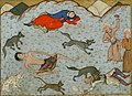 Habib Allah ibn 'Ali ibn Husam - Laylá and Majnun Faint at the Sight of Each Other - Walters W608154B - crop.jpg