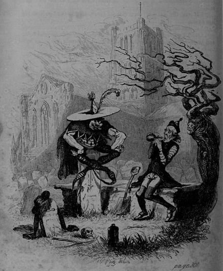 The Goblin and the Sexton Hablot Knight Browne - The Pickwick Papers, Gabriel and the goblin.jpg