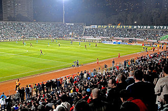 Haifa derby - Image: Haifa WM01 Kiryat Eliezer Stadium during a local derby