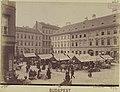 Hal tér a Torony utca - Duna utca saroktól az Irányi (Kalap) utca felé nézve. - Budapest, Fortepan 82466.jpg