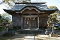 Hall of worship of Aohata Shrine in Sato.jpg