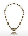 Halsband av guld, glas och onyx, cirka 1800 - Livrustkammaren - 98879.tif