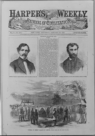 Nueces massacre - 1866 story and illustration of Texan-German Unionists' funeral after the end of the American Civil War.