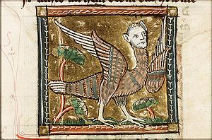 Harpy - A medieval depiction of a harpy as a bird-woman