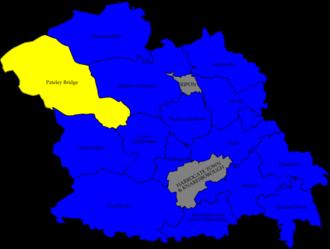 Harrogate Borough Council elections - Image: Harrogate 2008 election map